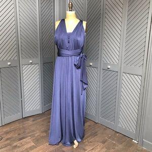 EUC convertible navy maxi dress by Debut